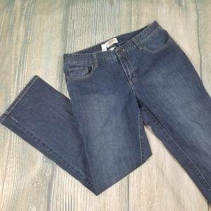 TALBOTS Petites stretch blue bootcut jeans